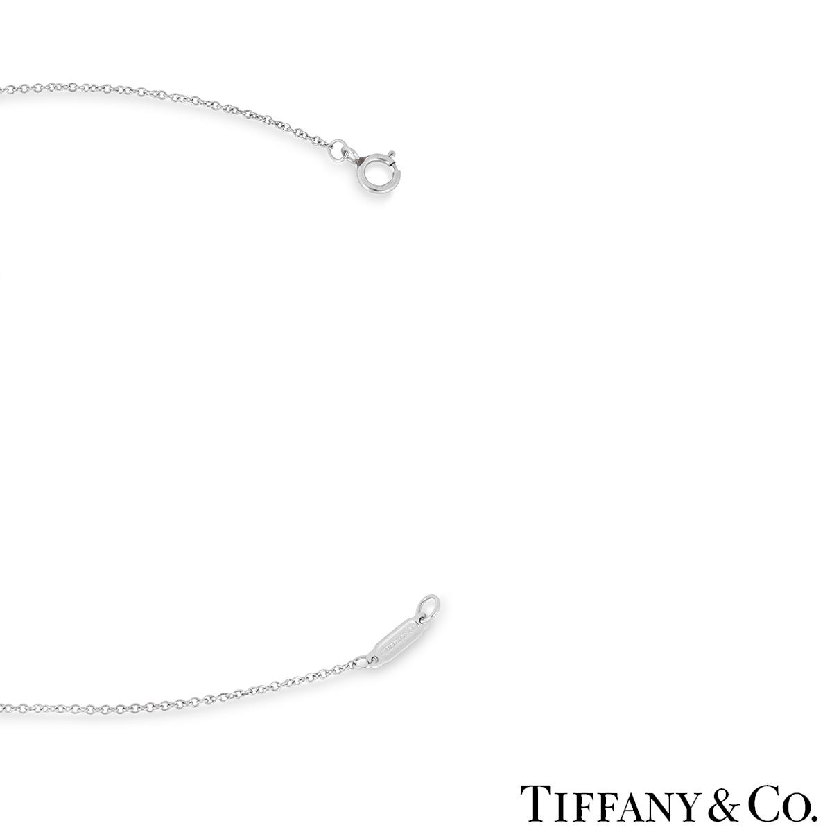 Tiffany & Co. Platinum Jazz Buckle Diamond Pendant